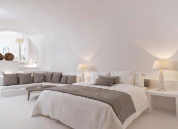 Luxus Villa Schlafzimmer ©Katikies Chromata Santorini