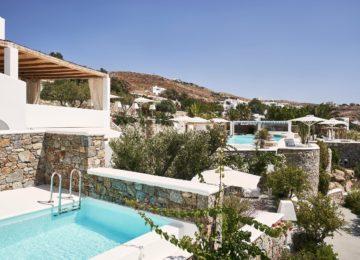 Honeymoon Suite mit eigenem Pool und Meerblick Außenbereich ©Katikies Mykonos