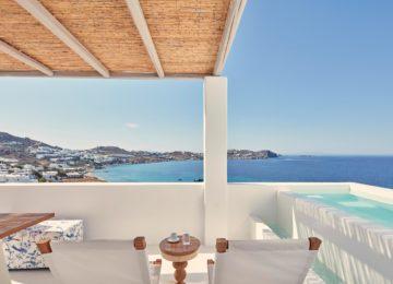 Terrasse mit Meerblick ©Katikies Mykonos