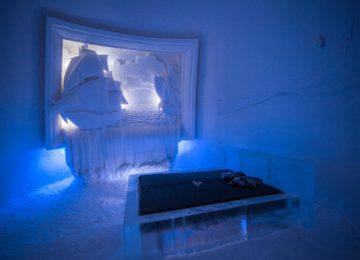 SnowVillage, Icehotel in Lainio, Finnland Lappland shipsuite